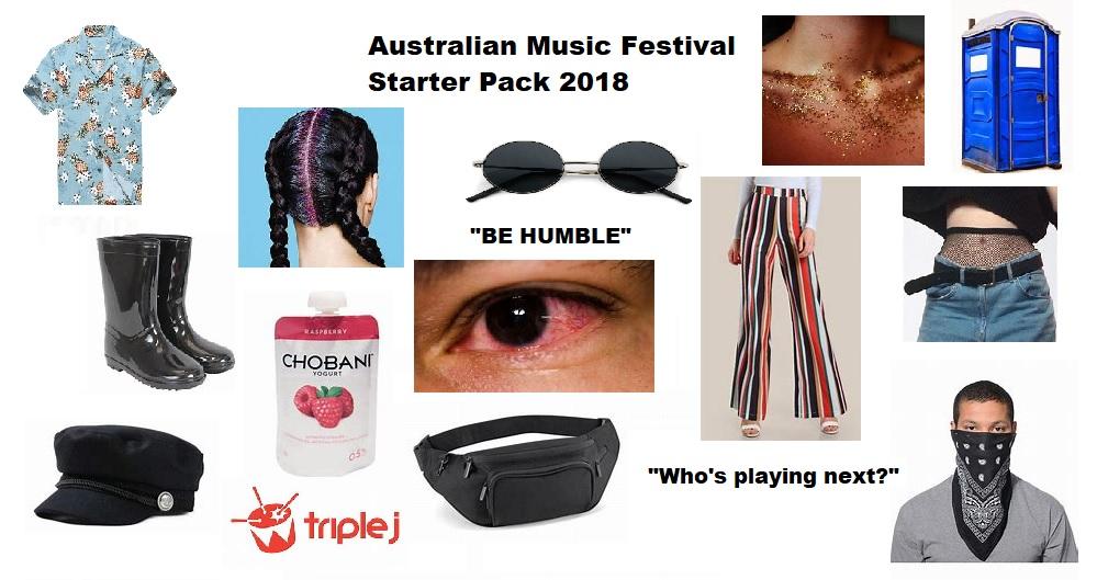 Music Festival Starter Pack